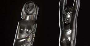 Ondine or Female nude with outstretched arms, and Female nude with folded arms