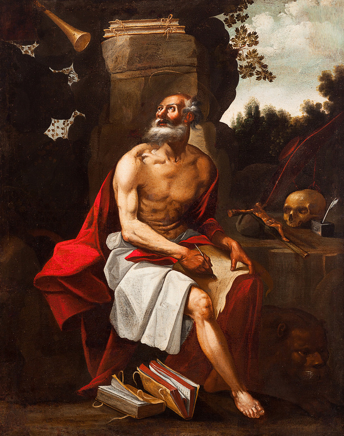 The penitent Saint Jerome in the desert